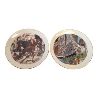 Chicago Souvenir Plate Collection - Set of 7