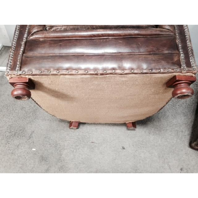 Leather Club Chairs - Pair - Image 9 of 11