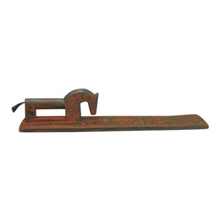 Danish Mangle Board with Inscribed Family Record (#62-60)
