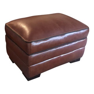 Macy's Brown Leather Ottoman
