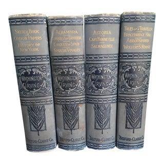 1900s Washington Irving Collection Books - 4 Volumes