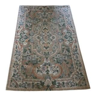 Vintage Crewel Tapestry Rug