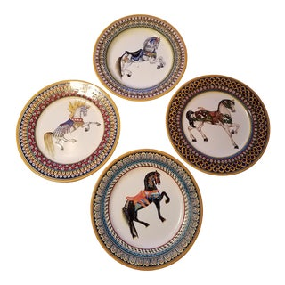 Grazia-Deruta Geometrical Stallion Dinner Plates - Set of 4
