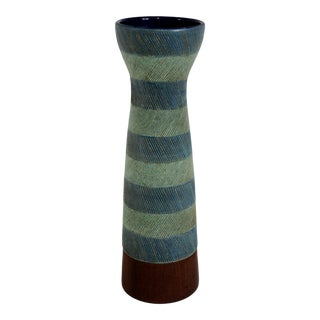Bitossi for Raymor Walnut Base Vase