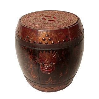 Gilt Antique Chinese Rice Bucket