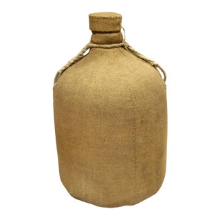 Cloth Covered Glass Bottle & Cork Lid