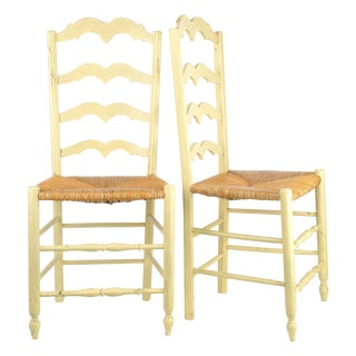 French Country Rush Seat Dining Chairs - Set of 8