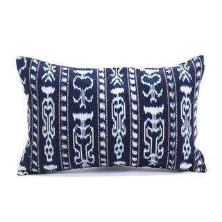Striped Indigo Ikat Guatemalan Pillow Cover