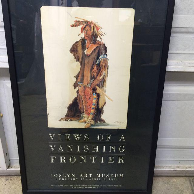 """Vintage Karl Bodmer """"Views of a Vanishing Frontier"""" Museum Poster - Image 6 of 6"""