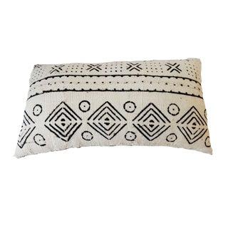 African Mali Mud Cloth Bogolan Lumbar Pillow