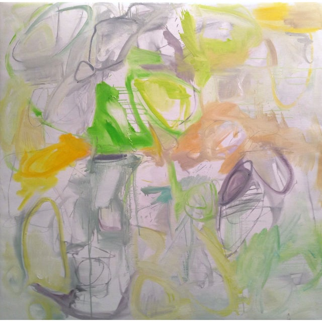 """Abstract """"Magic Potion"""" by Trixie Pitts 48""""x48"""" - Image 1 of 6"""