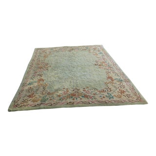 Monumental Japanese Hand Tied Carpet - 8′10″ × 12′4″