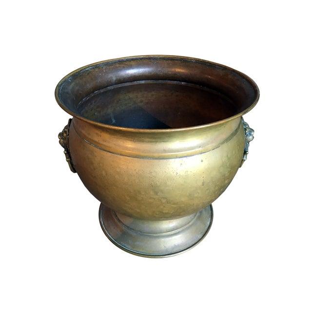 Antique Brass Jardiniere - Image 1 of 4