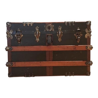 Antique English Steamer Trunk