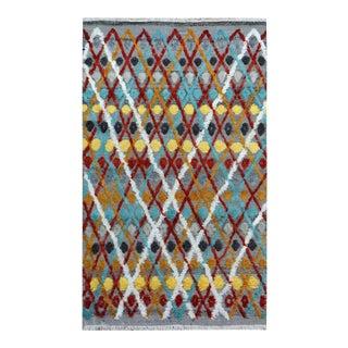 "Moroccan High Low Arya Reyes Tan/Brown Wool Rug - 5'8"" X 8'11"""