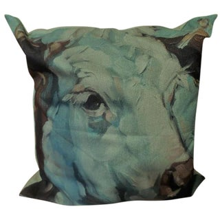 Graphic Abstract Cow Printed Throw Pillow
