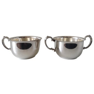 Silverplate Sugar & Creamer Set