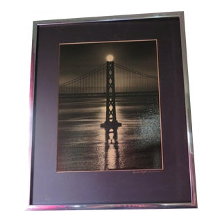 Gene Wright Framed Golden Gate Bridge Photograph