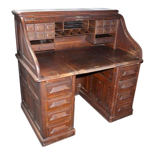Late 19th Century Gunn Furniture Co Roll Top Desk