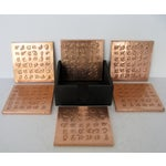 Image of Copper Coasters in Case - Set of 6