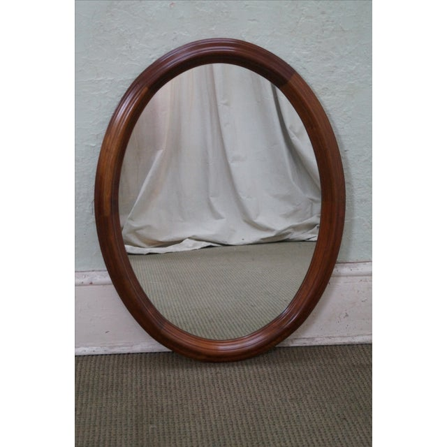 Image of Stickley Cherry Valley Oval Mirror