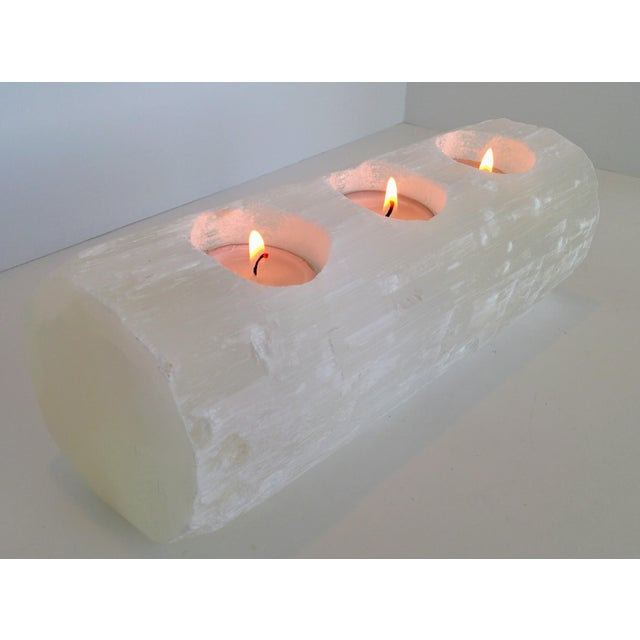 Selenite Branch Tealight Candle Holder - Image 2 of 8