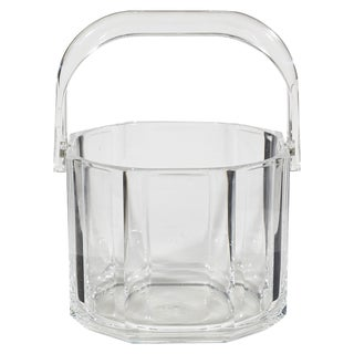 1970's Clear Plastic Ice Bucket