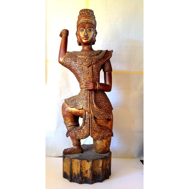 Large Wooden Dancing Figure - Image 10 of 11