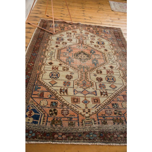 "Vintage Distressed Malayer Rug - 4'4"" x 6'3"" - Image 9 of 11"