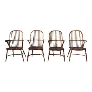 Oak Windsor Style Chairs - Set of 4