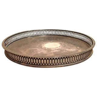 Vintage I. Magnin Sheffield Silver Footed Tray
