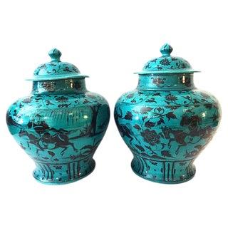 LG Yuan-Style Hunters Ginger Jars - A Pair