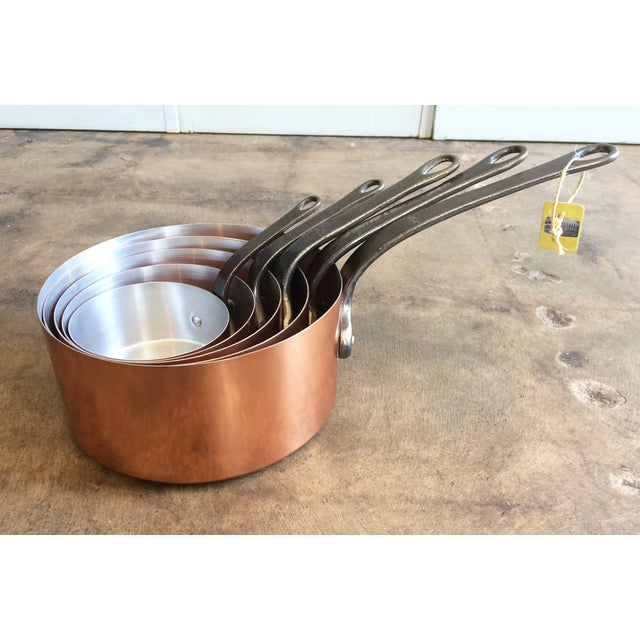 1960's Vintage French Copper Pot Set - 5 Pcs - Image 3 of 7