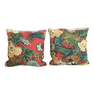 Schumacher Chiang Mai Dragon Pillows - Pair