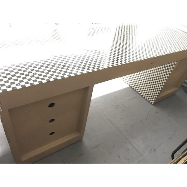 Marble Inlay Checkered Desk - Image 3 of 7