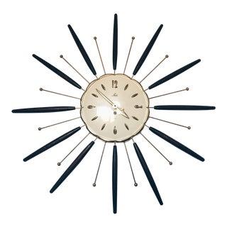 Mid-Century Modern Lux Starburst Clock
