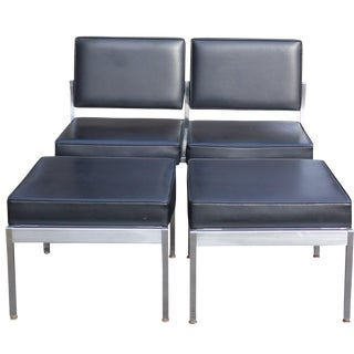 Mid-Century Modern Harter Scope-H Modular Settee Ottomans & Tables Set