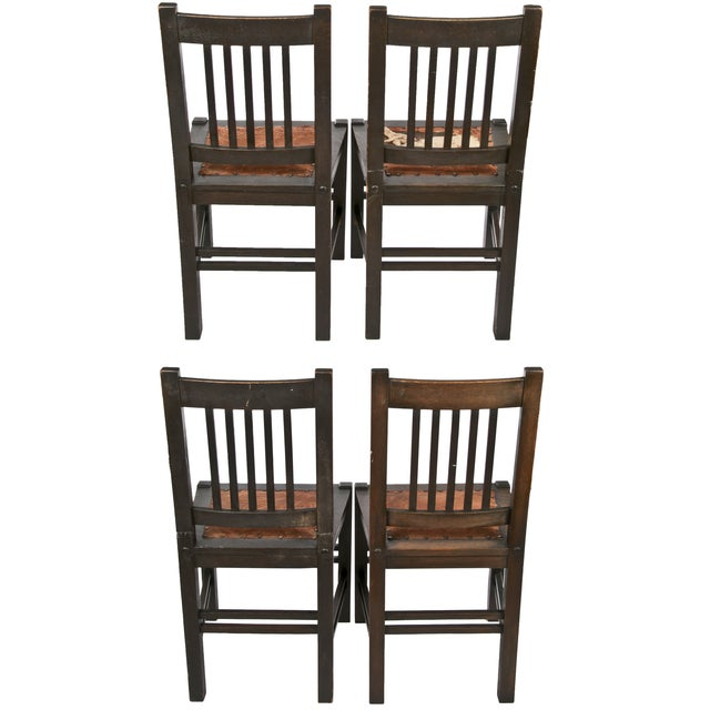 Gustav Stickley Quaint Dining Chairs - Set of 4 - Image 2 of 7