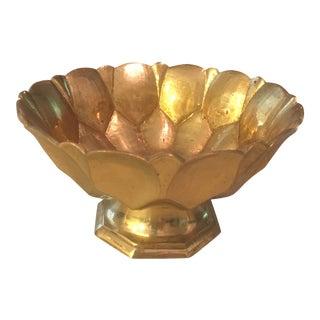 Decorative Pedestal Brass Bowl