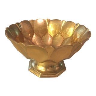 Decorative Pedestal Brass Bowl