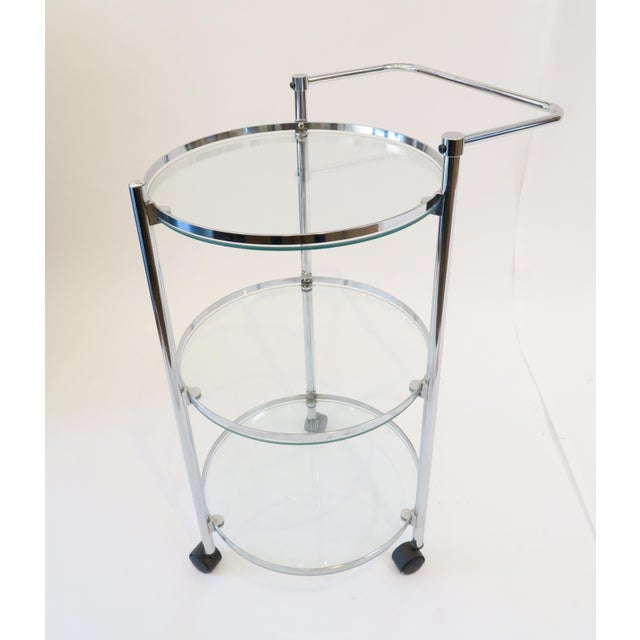 Glass & Chrome Bar Cart - Image 2 of 7