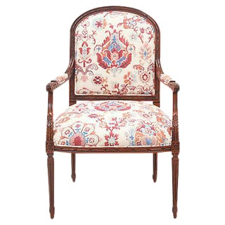 Louix XV Style Cherry Wood Armchair
