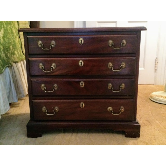 Image of Henkel Harris Mahogany 4 Drawer Nightstands - A Pair