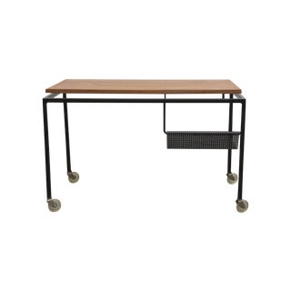 Cees Braakman Style Rolling Cart With Perforated M