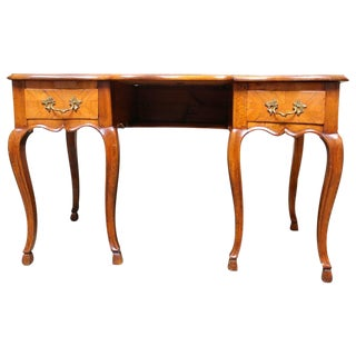 Swiss Walnut Desk in the Louis XV Style