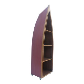 Hand Crafted Canoe Nautical Book Case/Shelving