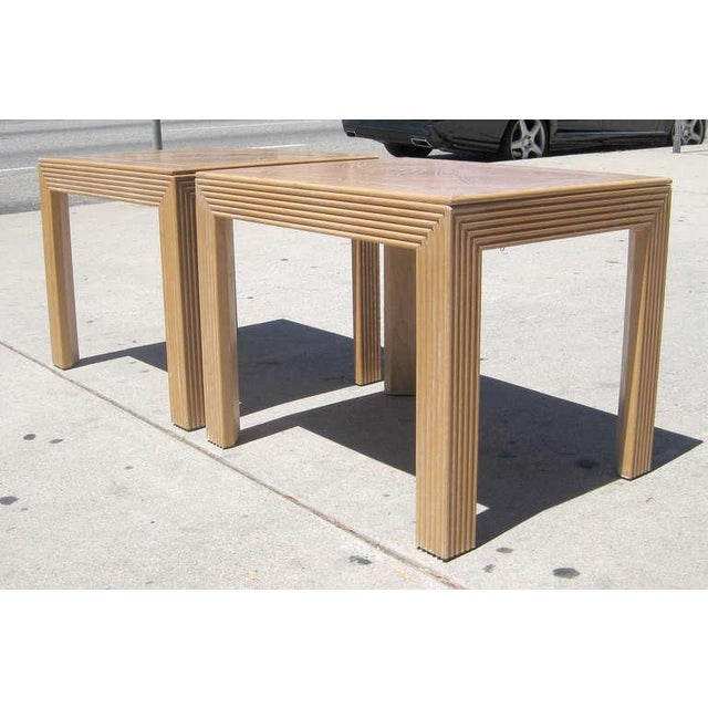 Parquet Top Sides Tables by Lane - Pair - Image 4 of 6
