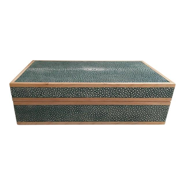 Teal Shagreen Treasure Box - Image 1 of 6