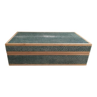 Teal Shagreen Treasure Box