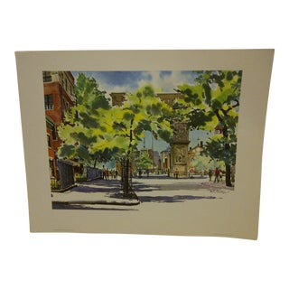 "Phil Austin ""Washington Square"" United Airlines Print"